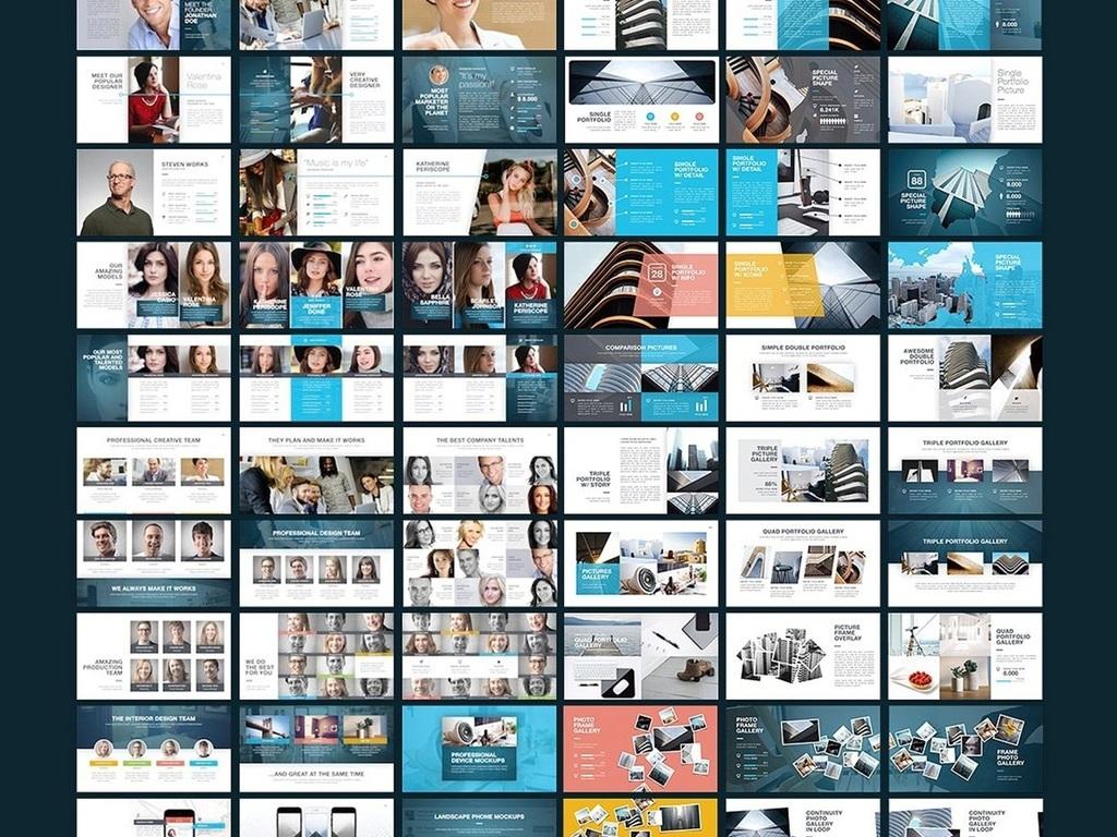 完整框架现代风创意公司keynote模板图片