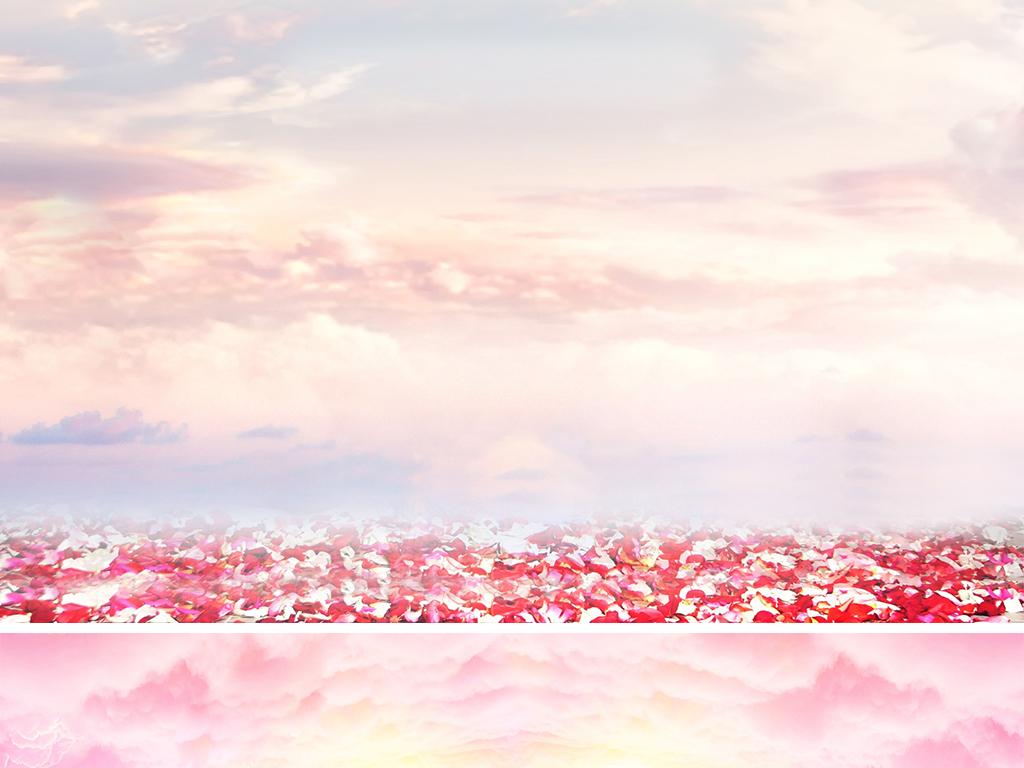 淘宝天猫三八女王节全屏海报大背景素材