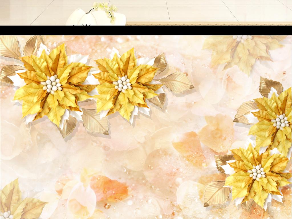 我图网提供精品流行新款唯美花朵珠宝背景