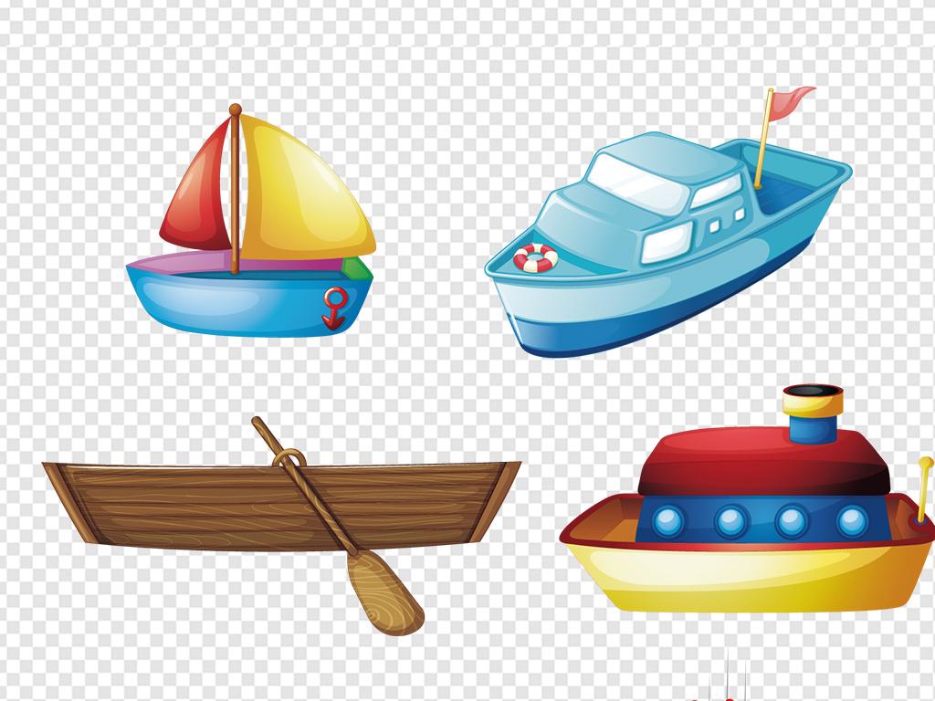 卡通手绘轮船航海图片海报素材