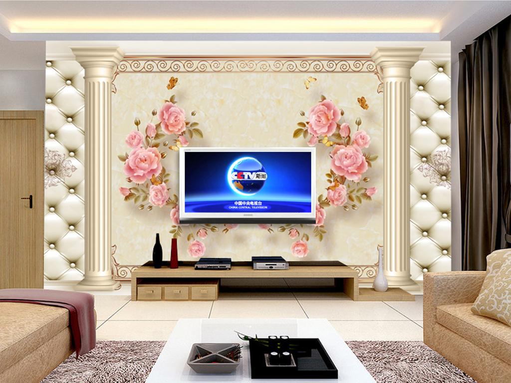 2017-02-14 20:13:53 我图网提供精品流行278欧式花纹花卉电视背景墙图片