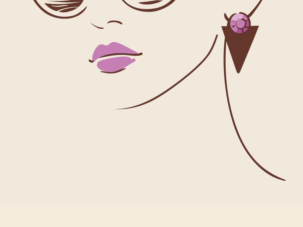 卡通时尚彩绘美女设计海报插画