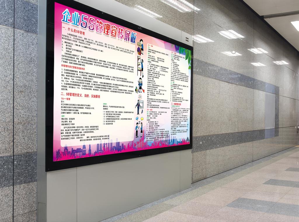 企业5s管理宣传展板模版
