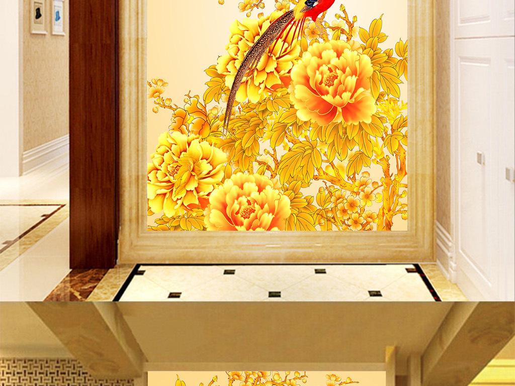 琉璃背景墙玉石壁画