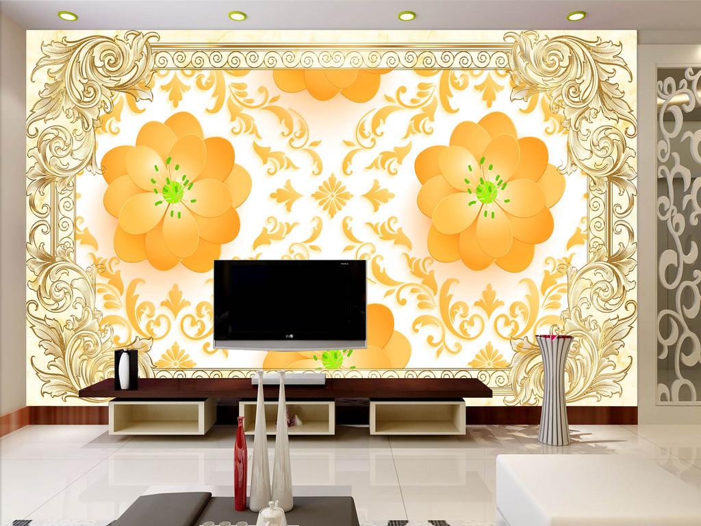 我图网提供精品流行欧式花纹背景墙素材