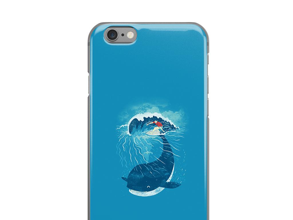 卡通鲸鱼手绘漫画蓝色手机壳手机套高清模板
