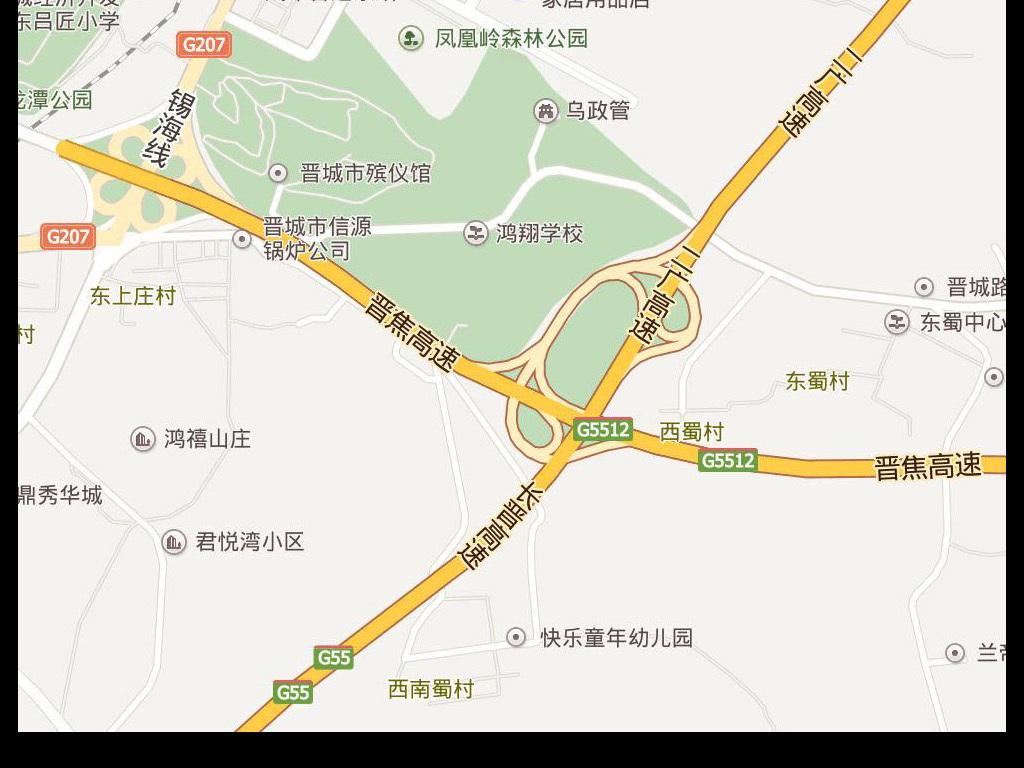 2017高清晋城市地图电子地图