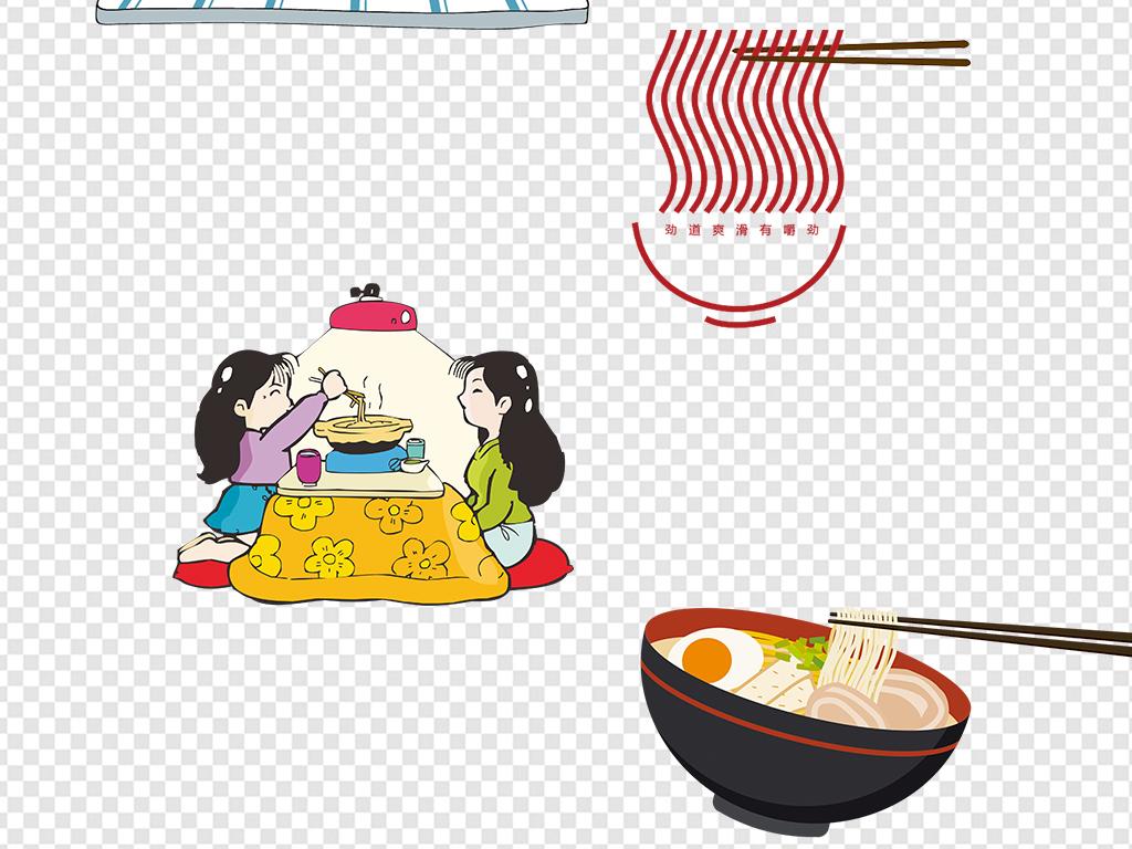 简笔画意大利面手绘做美食人物厨师拉面面条米粉手绘素材美味面条素材