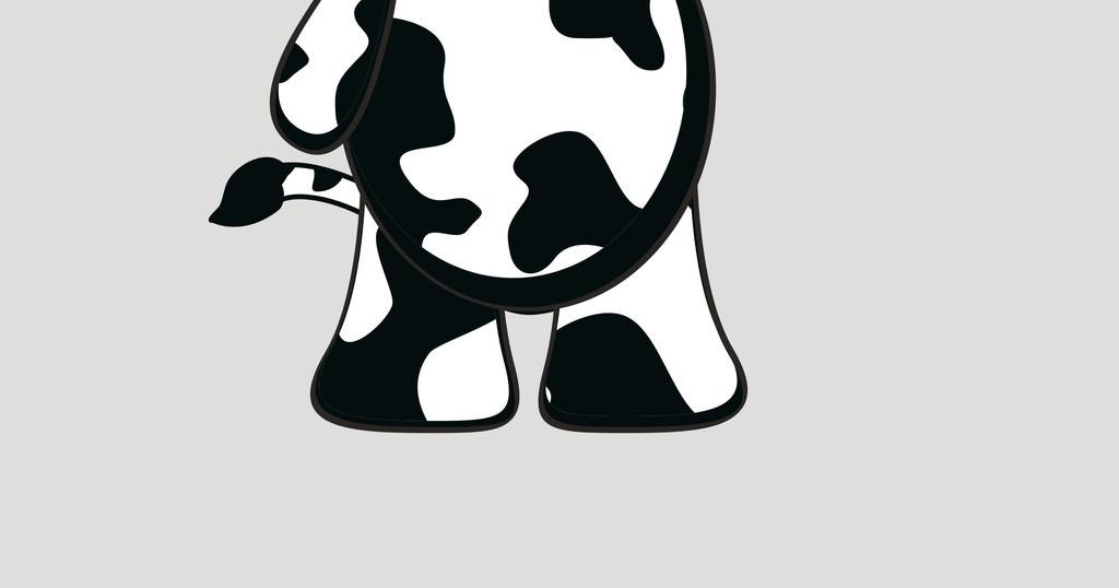 矢量图 奶牛 简笔画 卡通动物