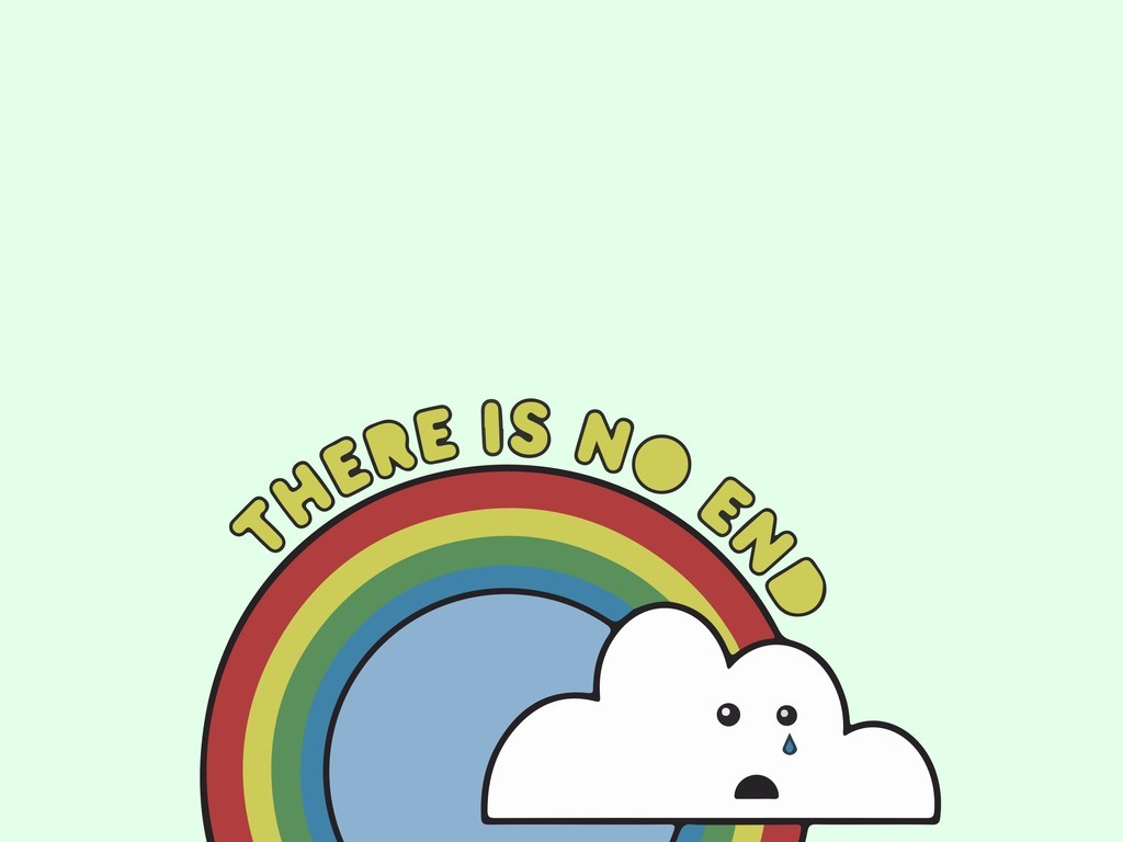 彩虹背景人物头像