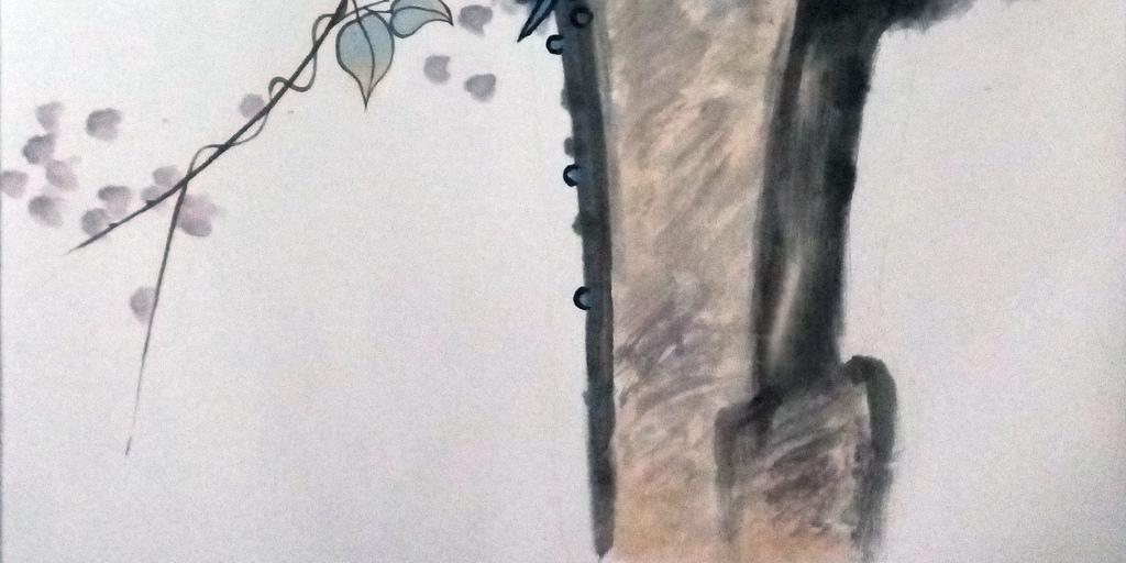 下一个目标老鹰手绘图(图片编号:16141510)_山水花鸟