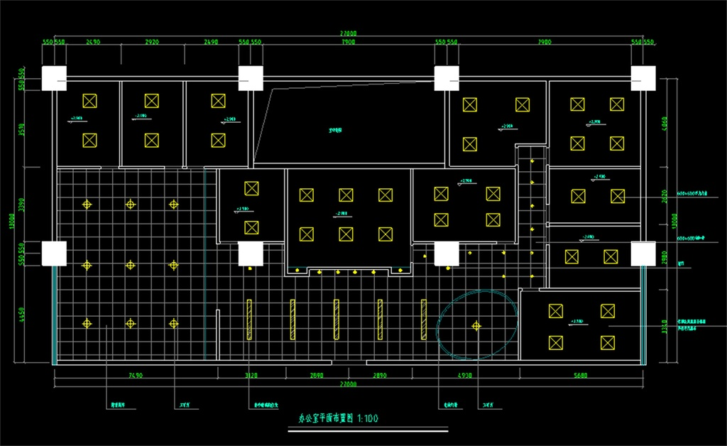 某办公室CAD装饰平面图