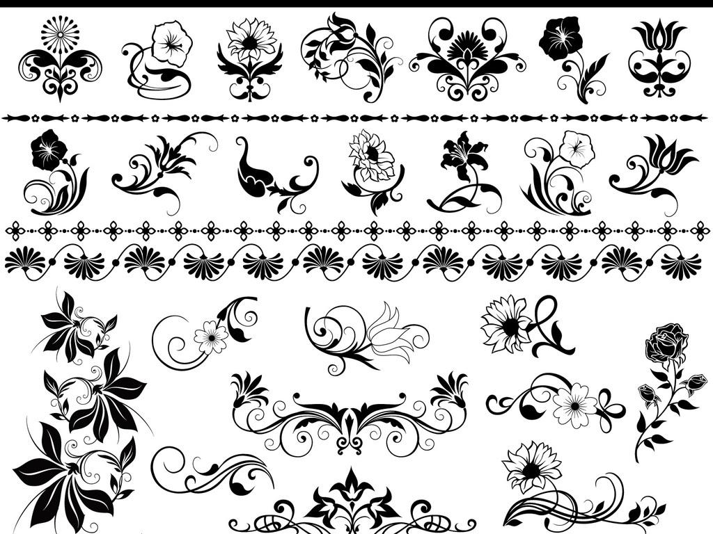 100款创意欧式边框欧式花纹矢量素材