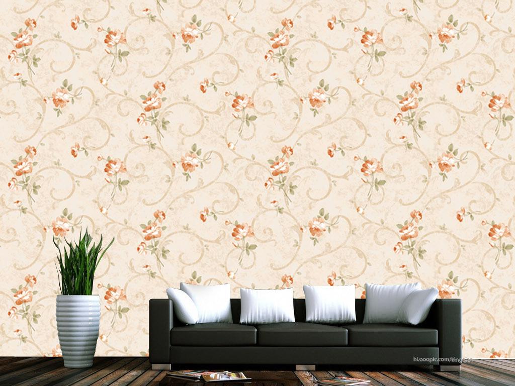 展示墙纸效果图客厅墙纸卧室墙纸无缝花纹玫瑰欧式花纹欧式花朵花朵