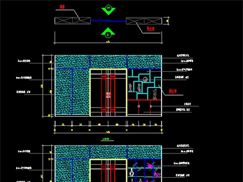 dwg)家居平面布置图家居装修照明电路图室内装修电路
