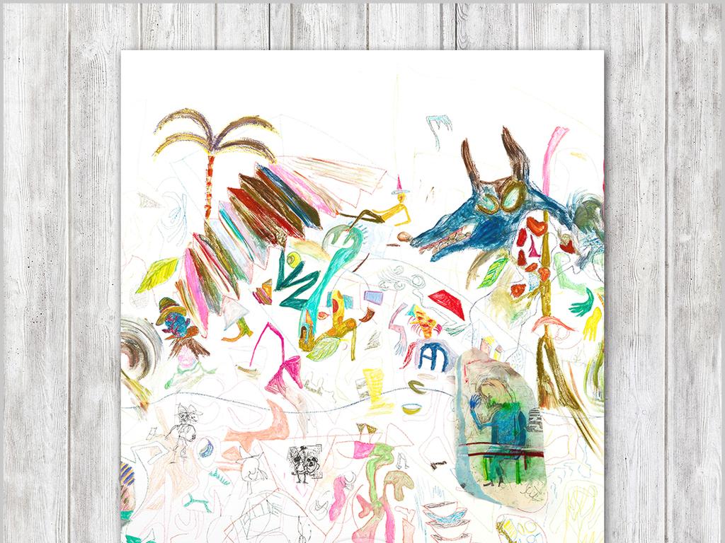 手绘涂鸦新抽象主义绘画欧式现代装饰画