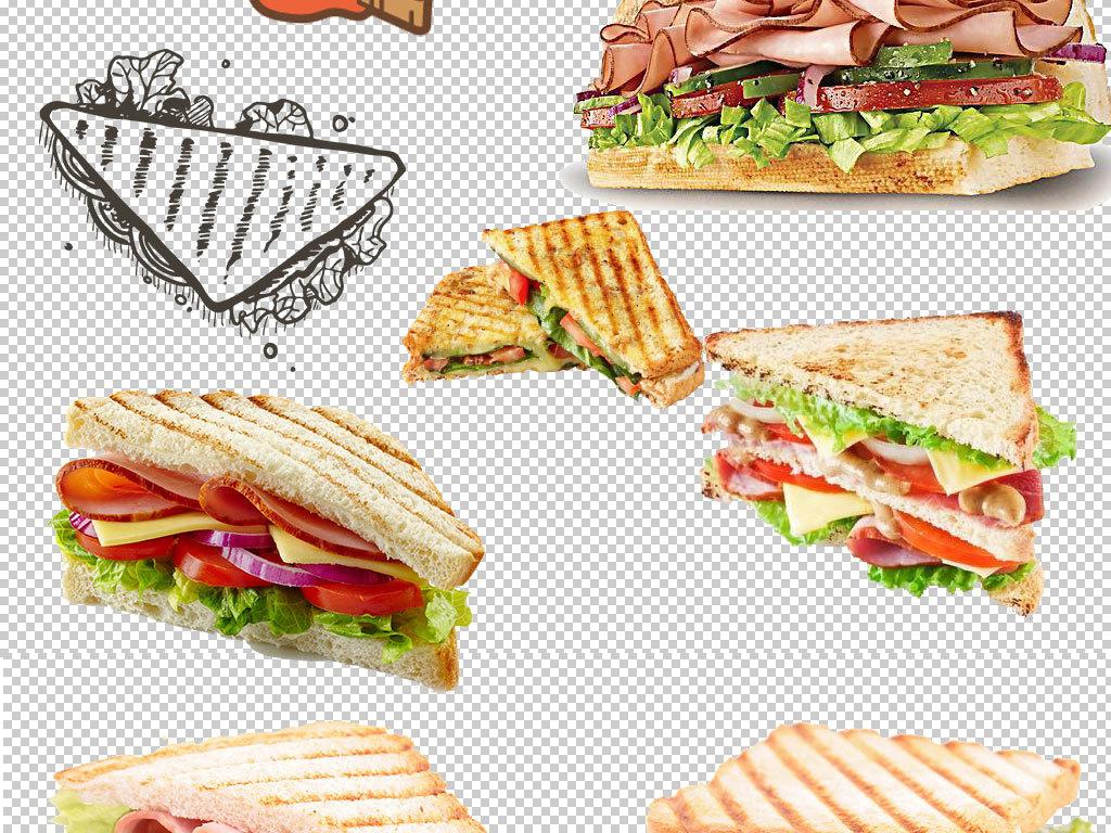 png)卡通三明治三明治素材三明治图片面包店蛋糕美食名片饭店餐馆西图片