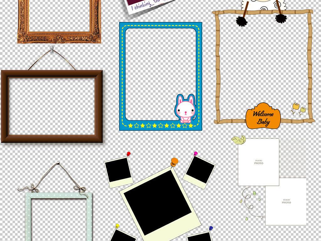 儿童相框边框海报图片素材