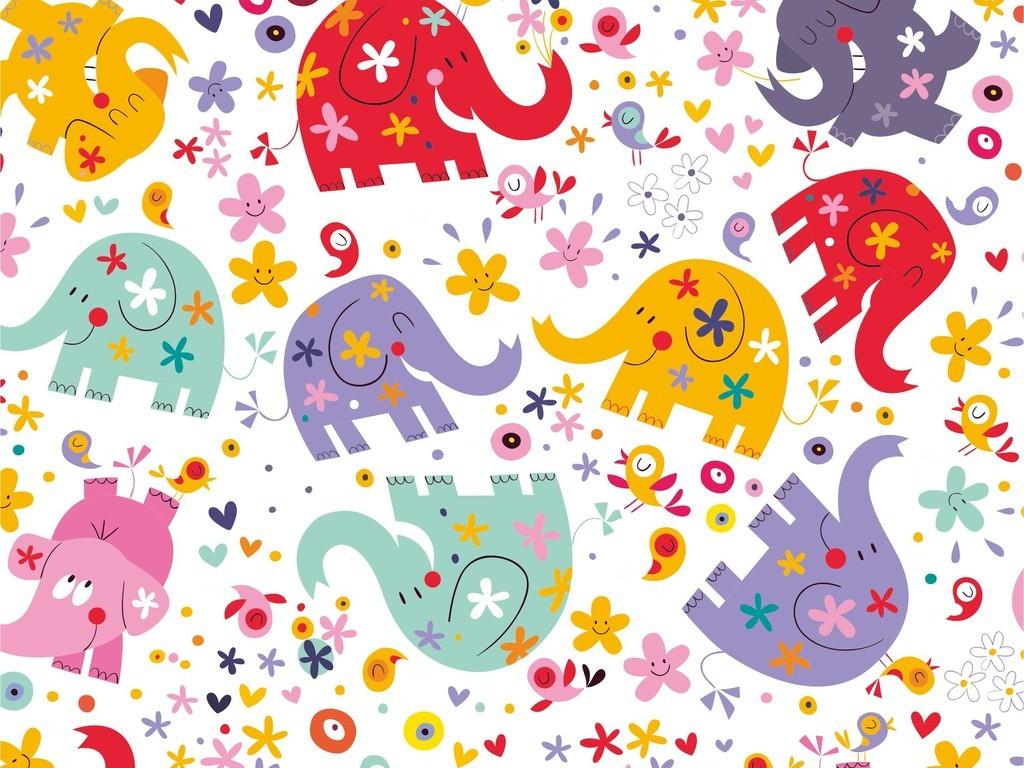 ai)卡通图案鸟动物印花图案小清新卡通面料印花图案儿童印花素材儿童
