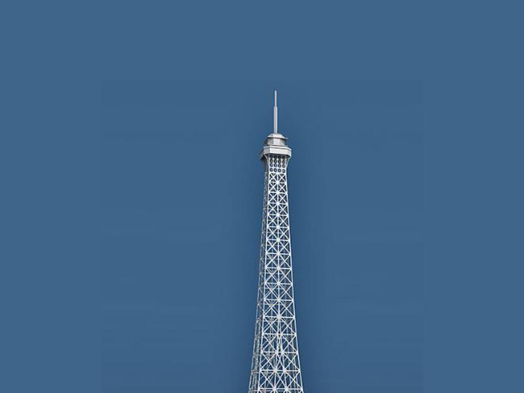 埃菲尔铁塔3d模型(图片编号:16144400)