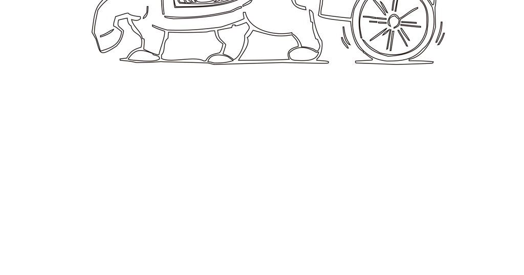卡通动物人物简笔画