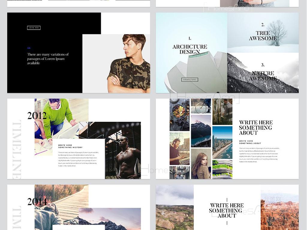 设计作品简介: 简约风格商业计划书创意keynote模板
