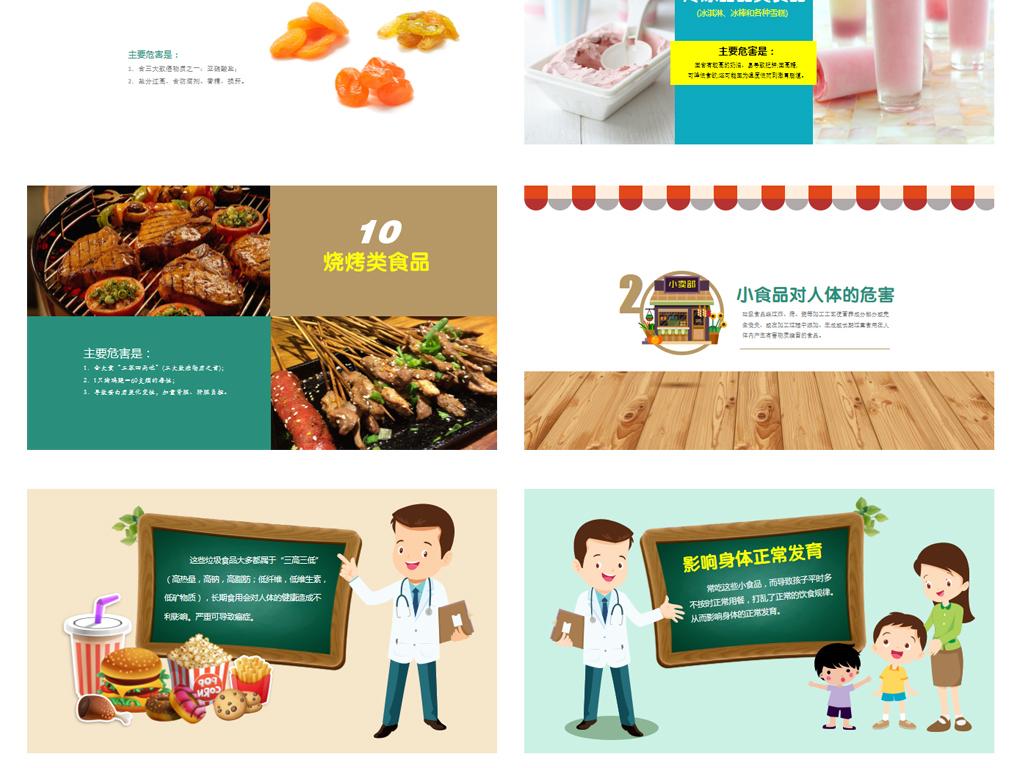 中小学生食品安全健康主题班会ppt模板