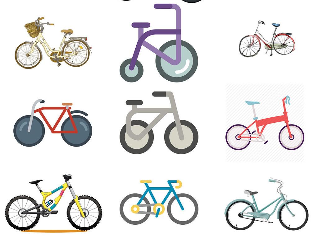 卡通儿童自行车免抠图片设计素材4图片下载png素材 效果素材