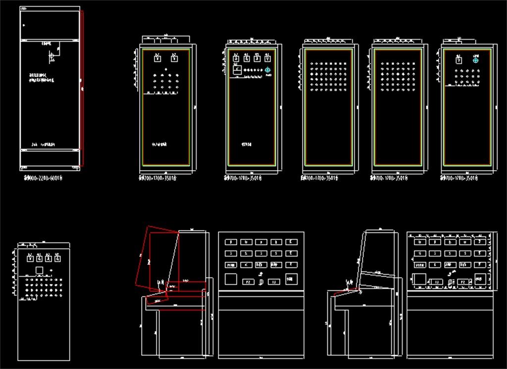 电闸开关柜cad设计图