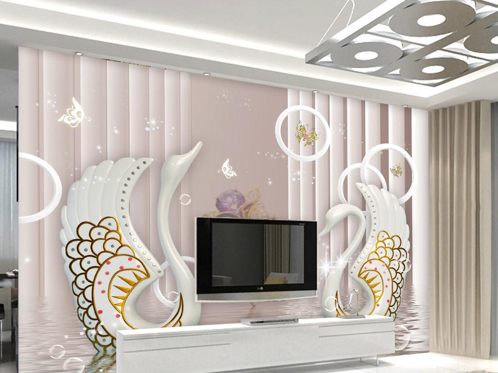 psd)2017新款简欧式客厅背景墙壁画餐厅瓷砖画贴图创意卧室主卧床头