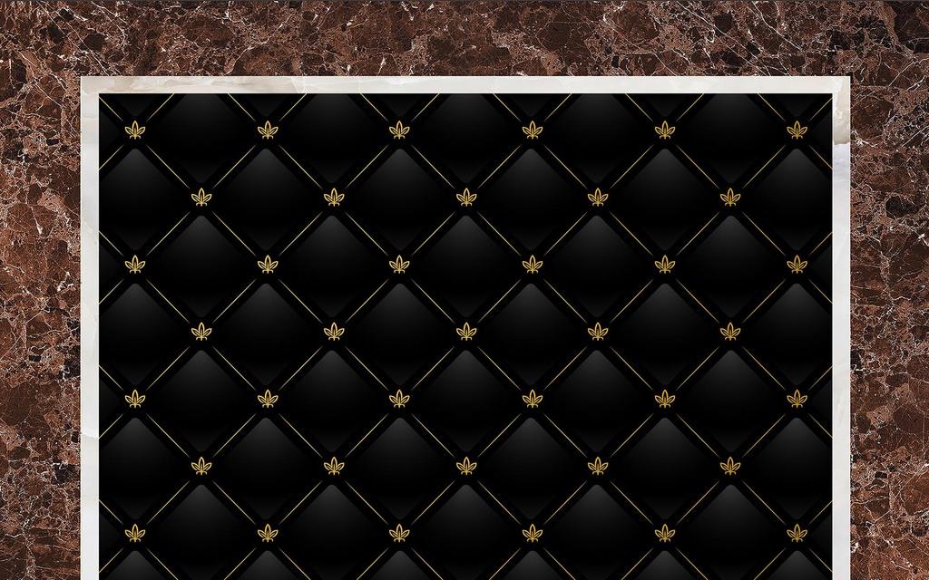 3d欧式软包方格大理石背景墙(图片编号:16146696)