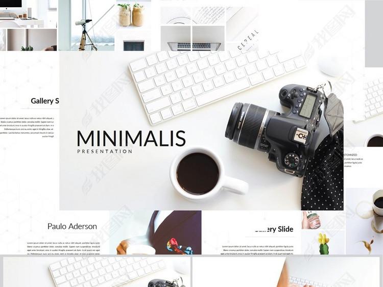 简约风摄影艺术公司商务keynote模板