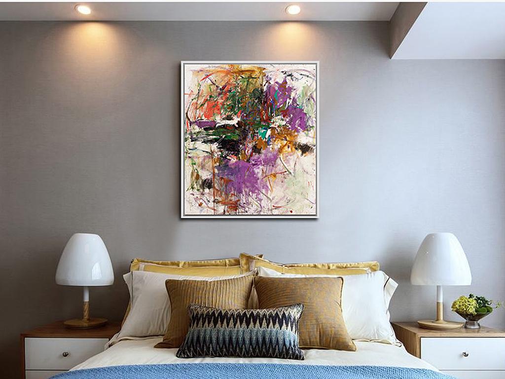 11:04 我图网提供精品流行北欧卧室装饰画现代客厅抽象油画致幻素材下图片