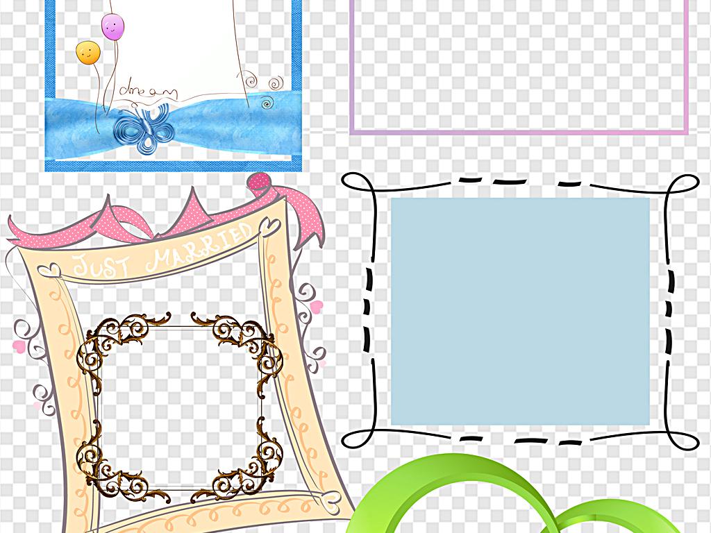 新年边框复古边框手绘边框小报边框成长手册边框装饰