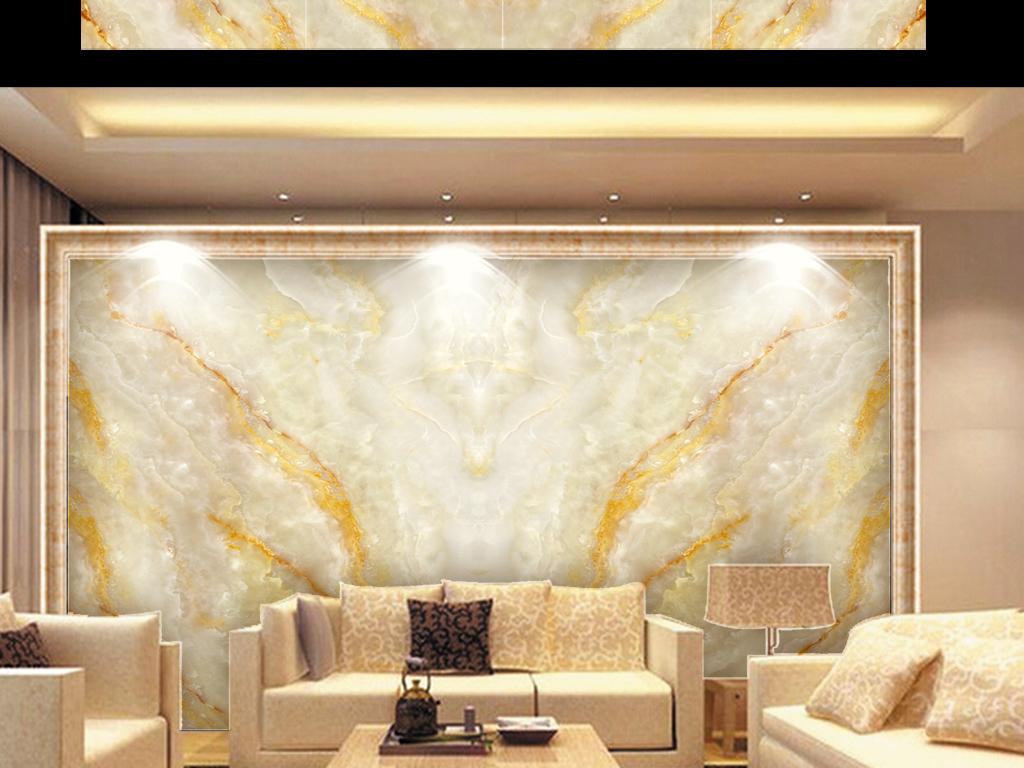 高温烧瓷砖大理石纹拼花背景墙