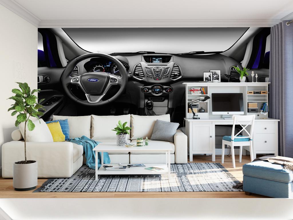 欧式电视背景墙 > 高清大气唯美汽车驾驶室背景