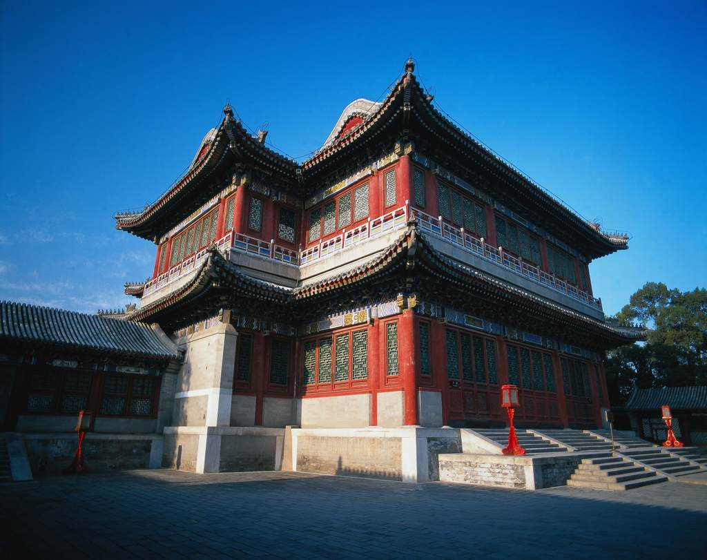 中国古建筑建筑文化遗址大殿宫殿