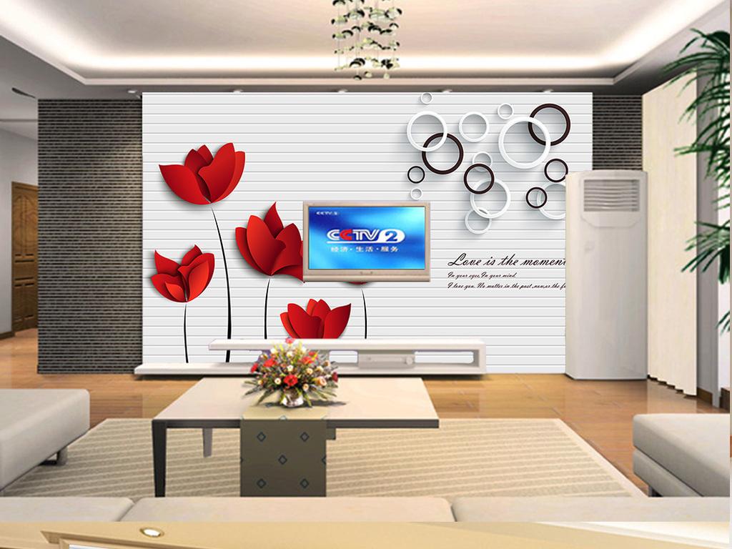 我图网提供精品流行时尚简约风红色抽象花朵玫瑰背景