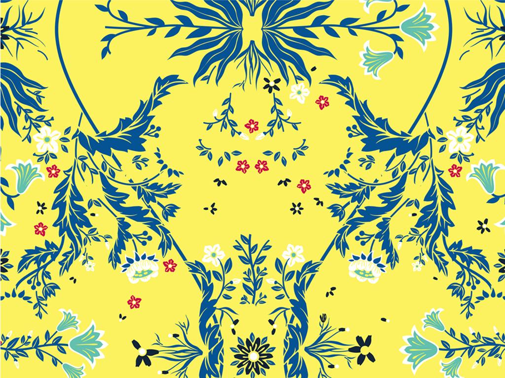 产品图案设计 服装/配饰印花图案 文化艺术图案 > 中国风花卉图案夏季