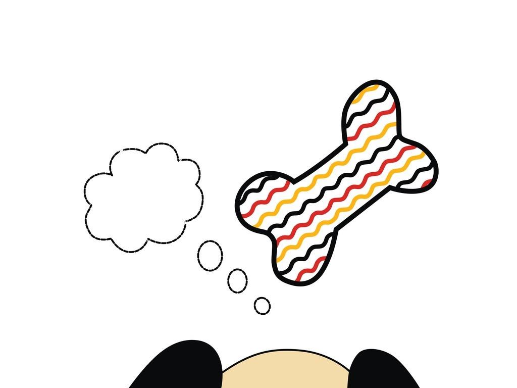 卡通动物图案狗(图片编号:16150728)