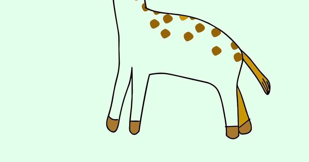 卡通动物图案长颈鹿