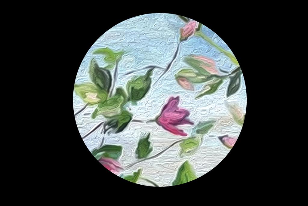 油画手绘花背景墙