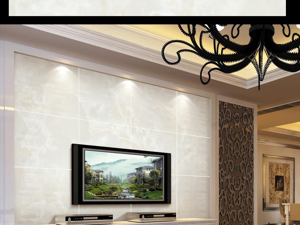 电视背景墙 大理石背景墙
