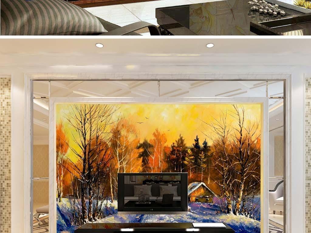 音乐乐队动物山水巨幅装饰画欧式背景电视背景森林背