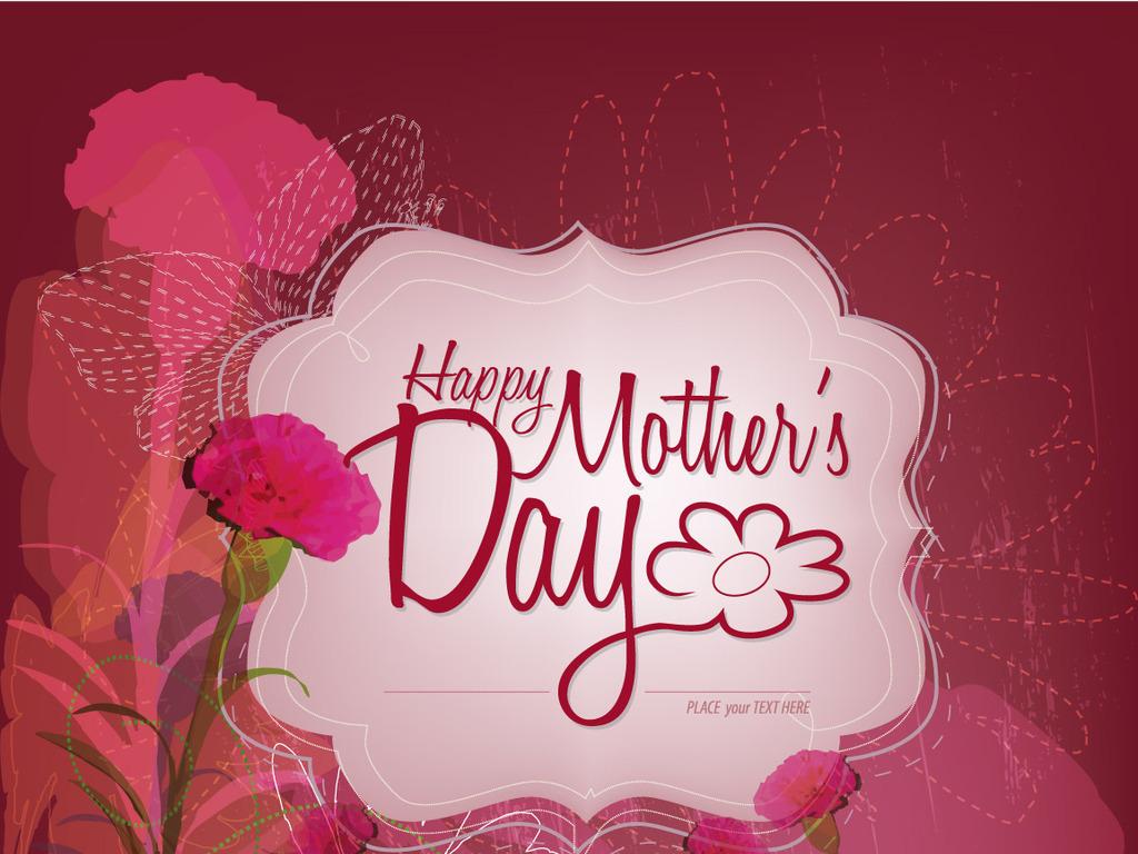 母亲节贺卡妇女节玫瑰国外海报背景妈妈母爱