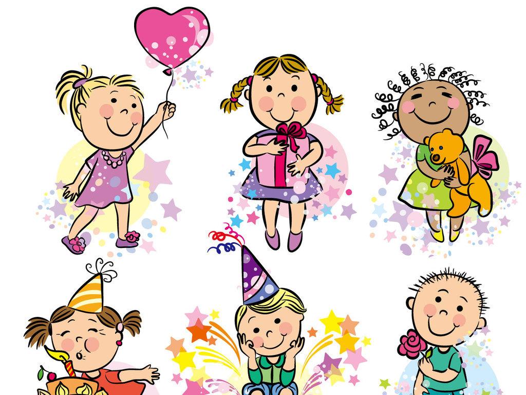 卡通人物漫画小孩母亲节矢量素材儿童节儿童图片