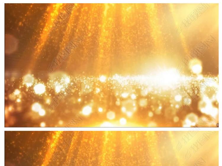 唯美金黄色粒子光晕光影LED背景视频