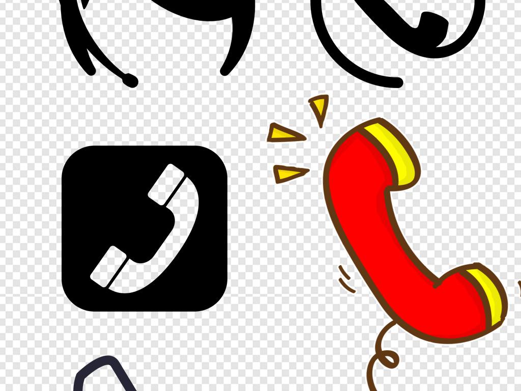 卡通电话通讯图标设计海报素材