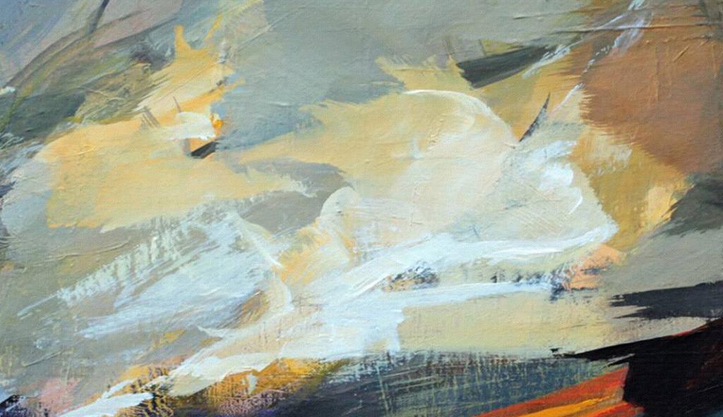 现代抽象画单联巨幅床头画复古欧式油画办公室墙画