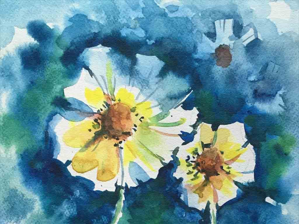 设计作品简介: 唯美手绘花卉玄关背景装饰画 位图, rgb格式高清大图